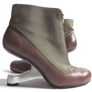 United Nude 38 Ankle Booties Metal Heel Iconic